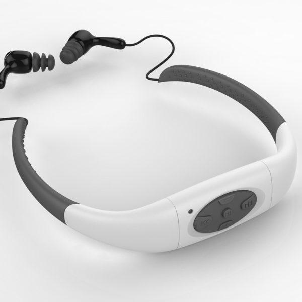 svømmesett øretelefoner med avspiller
