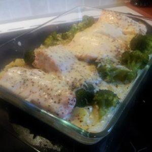 Ovnbakt Laks med brokkoli (4 porsjoner)